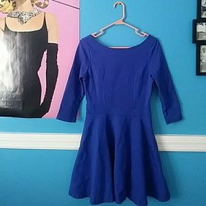 Arden B. Sapphire Dress with sweetheart back